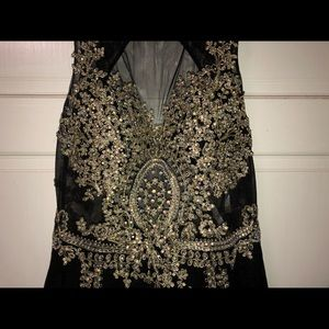 Black dress with gold embroidery!
